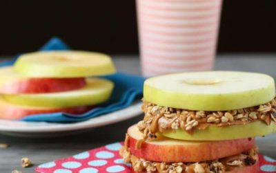 Apple Granola Sandwiches