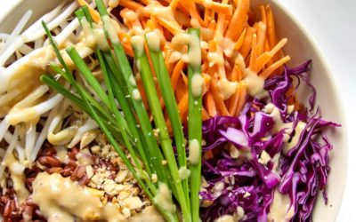 Thai Rice Bowl with Peanut Sauce